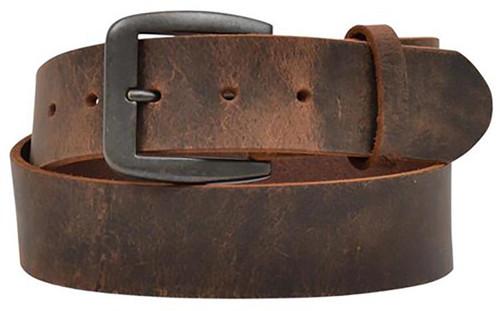"3D Belt Co. Men's 1 1/2"" Bay Apache Belt w/ Raw Edge - Brown"