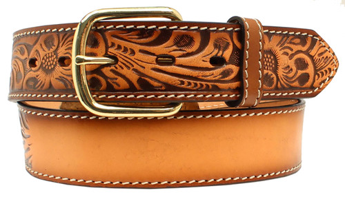 3D Belt Co. Men's Embossed Name Belt - Brown