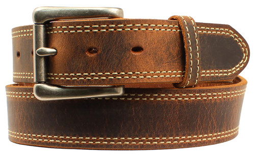 Men's Nocona Austin USA Belt - Medium Brown