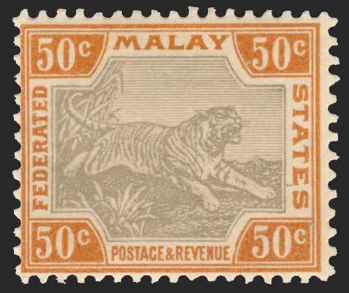 Malaya (Federated States) Scott 16V Gibbons 15-22b Mint Set of Stamps
