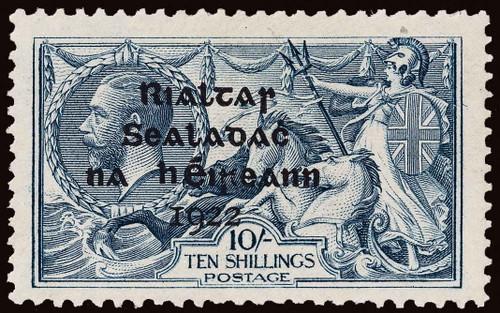 Ireland Scott 12-14 Gibbons 17-21 Mint Set of Stamps