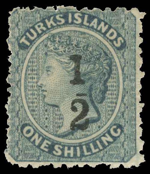 Turks Islands Scott 8 Variety Gibbons 11c Mint Stamp