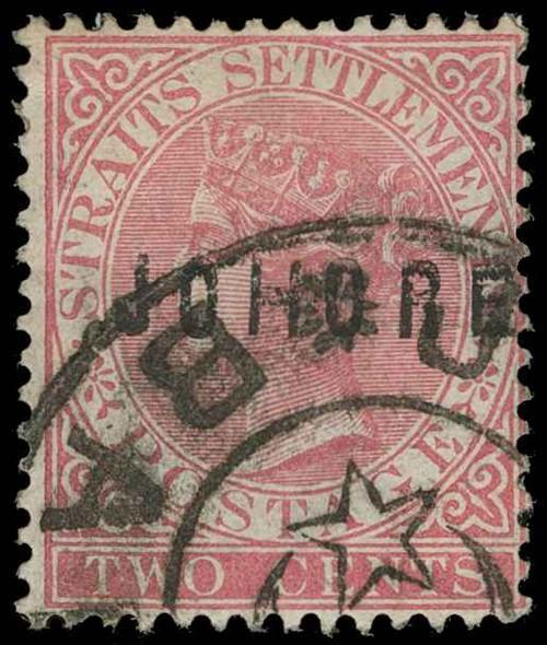Malaya / Johore Scott 2d Gibbons 4 Used Stamp