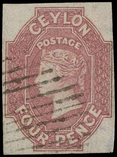 Ceylon Scott 5 Gibbons 4 Used Stamp