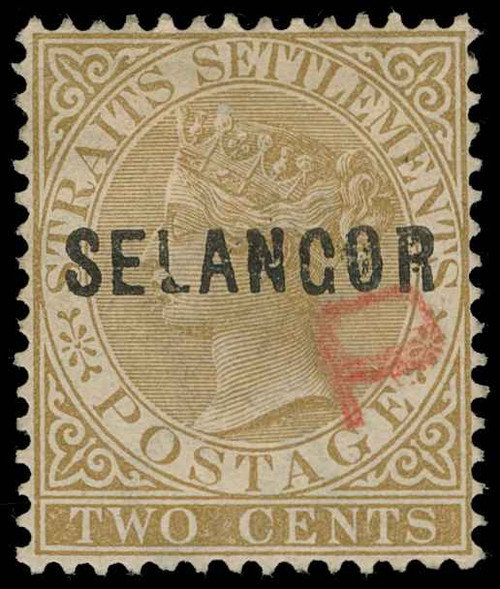 Malaya / Selangor Scott 6a Gibbons 13 Used Stamp