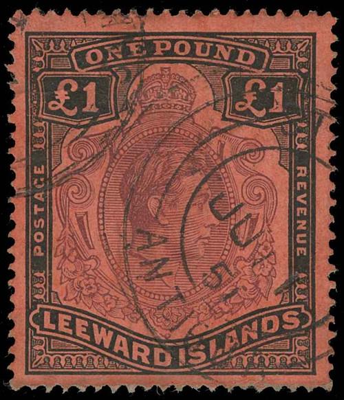 Leeward Islands Scott 115a Gibbons 114 Used Stamp