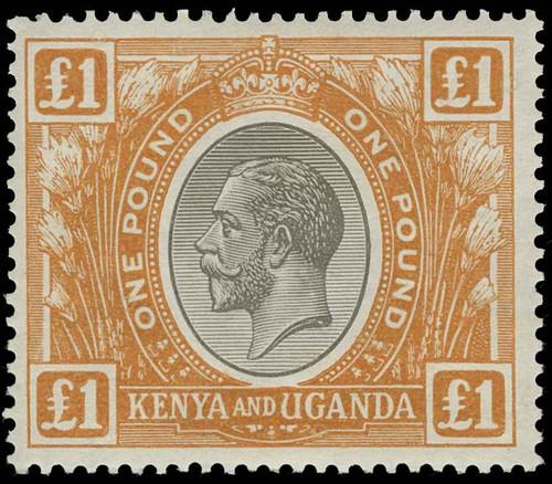 Kenya, Uganda and Tanganyika Scott 37 Gibbons 95 Never Hinged Stamp