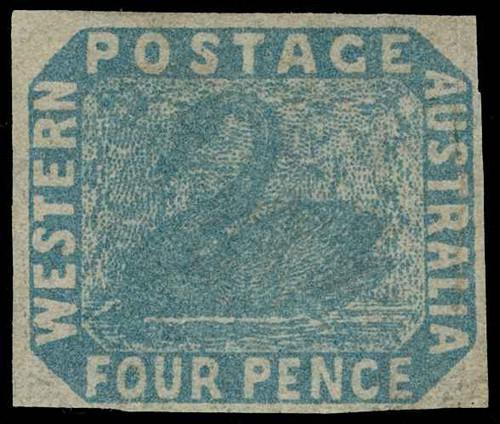 Australia / Western Australia Scott 3bv2 Gibbons 3b Mint Stamp