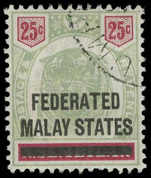 Malaya (Federated States) Scott 1-8 Gibbons 1-8 Used Set of Stamps