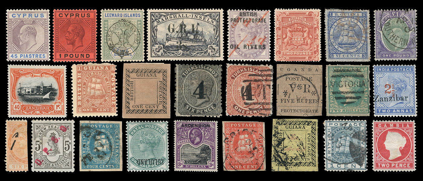 British Empire Stamp Collage