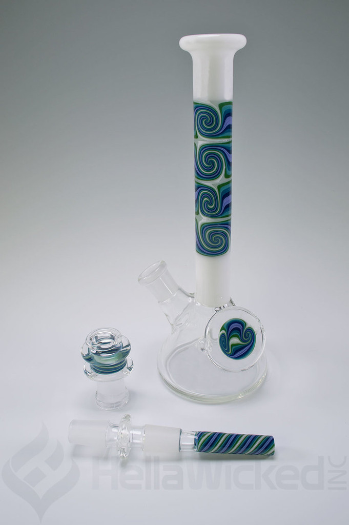Fogz Glass + Gordo Scientific White Worked Mini Beaker