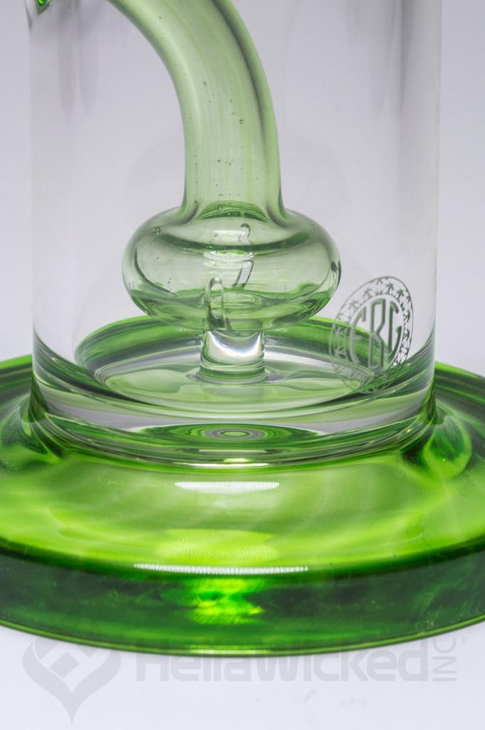 FatBoy Glass Green Showerhead Rig up close