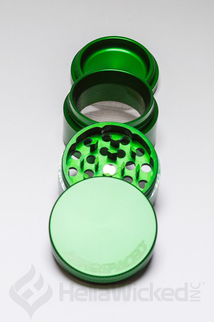 Aerospaced 4 Piece Grinder - Green Medium