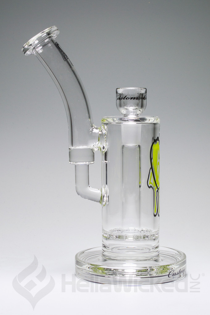 C2 Custom Creations 50mm Ratchet Bubbler - Green Side View