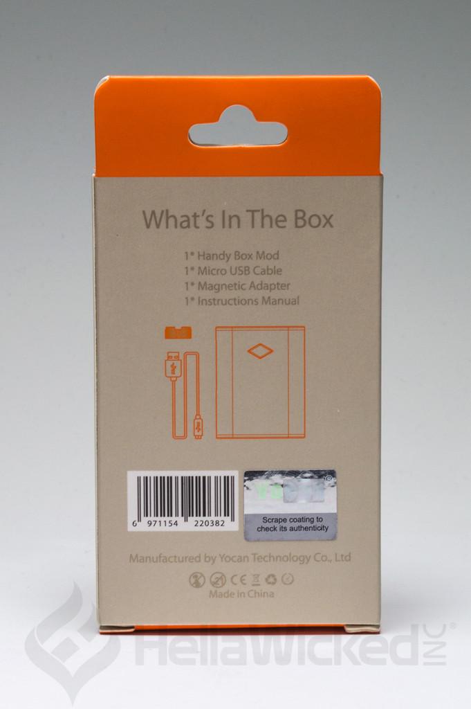Yocan Handy 510 Thread Vape - Silver Back Box