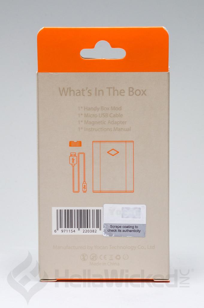 Yocan Handy 510 Thread Vape - Blue Back Box