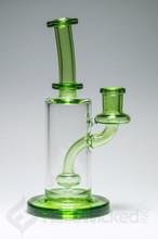 FatBoy Glass Green Showerhead Rig side view