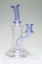FatBoy Glass Purple Banger Hanger side view
