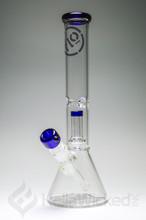 Flo Glass Showerhead Beaker - Blue