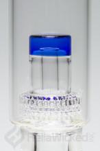 Flo Matrix Faceted Beaker - Blue Matrix Percolator Up Close