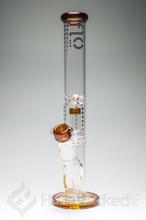 Flo Glass Showerhead Bong - Amber