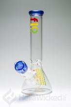 Flo Mini Beaker - Blue Rasta #2
