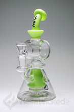 MAV Glass Pyramid Swiss Showerhead Bent Neck Rig - Lime Green