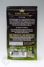 King Palm Terp Infused Mini Rolls 2pk - Limited Edition Irish Cream Back of Package
