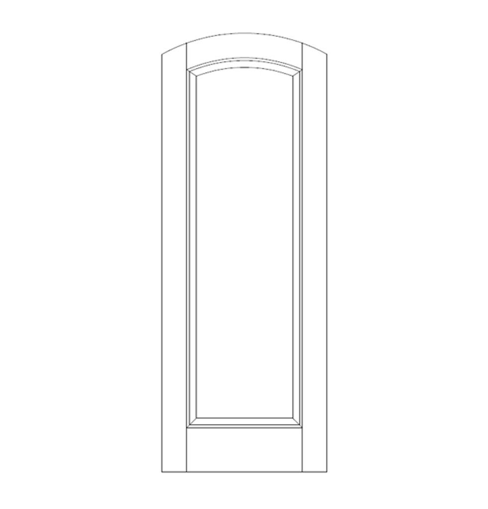 1-Panel Wood Door (DR1500)