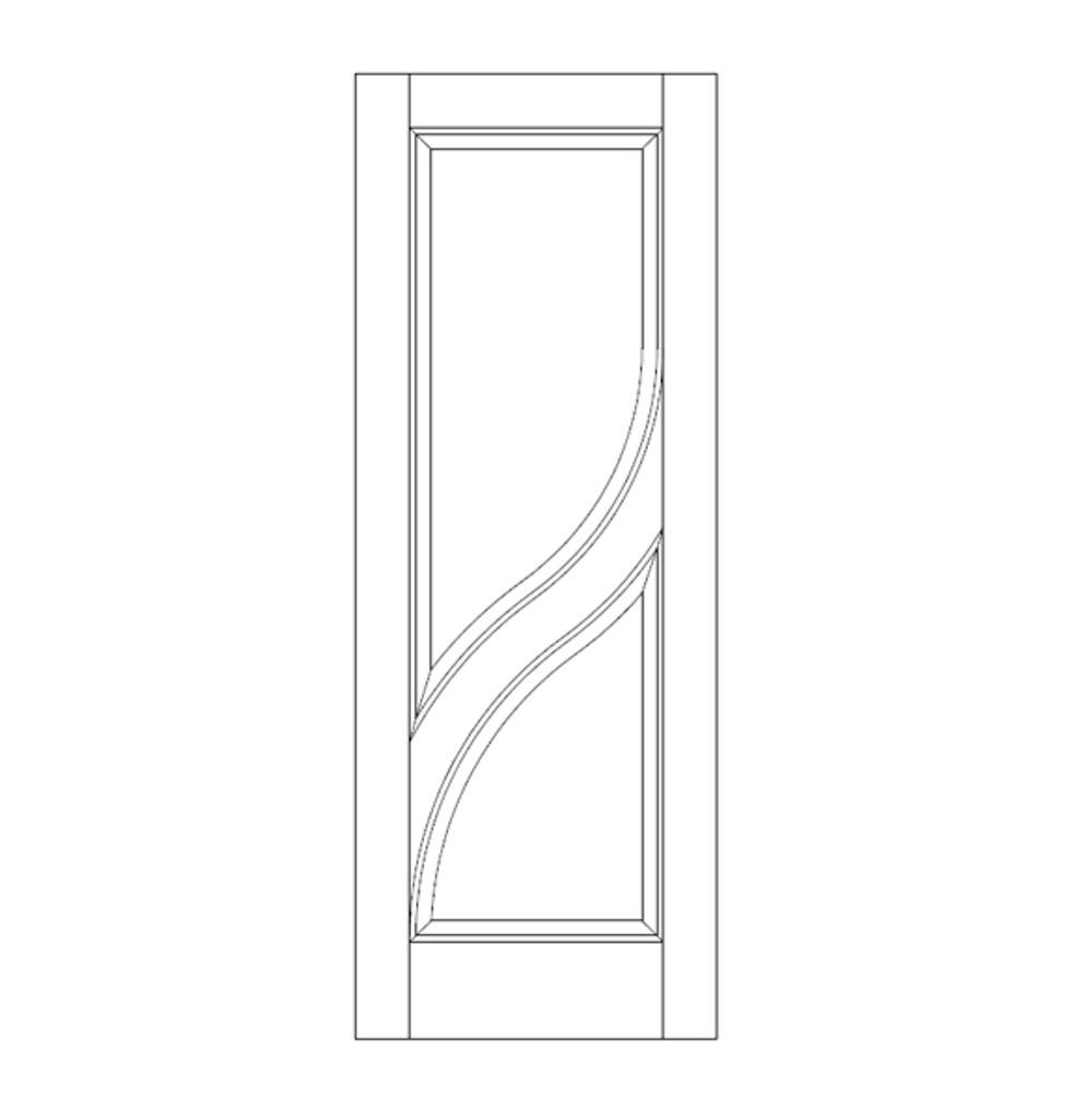 2-Panel Wood Door (DR2020)