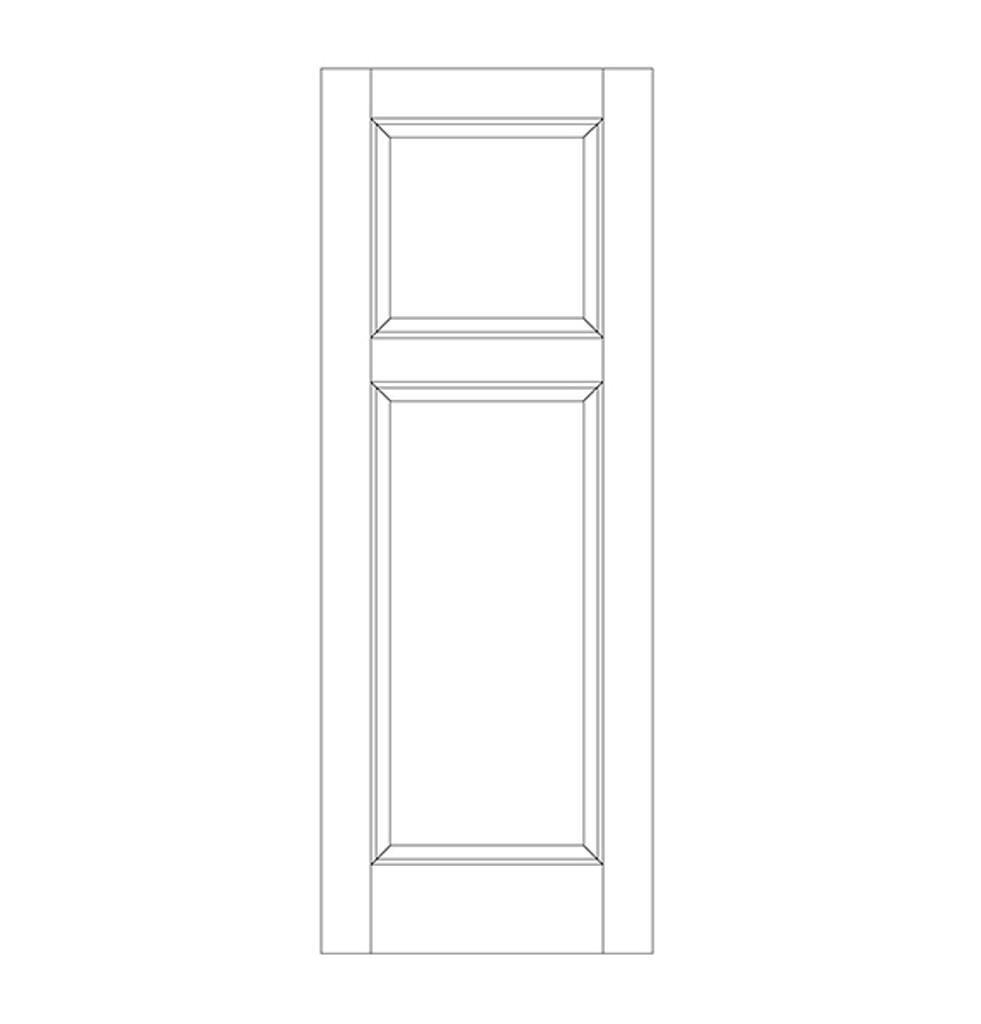2-Panel Wood Door (DR2090)