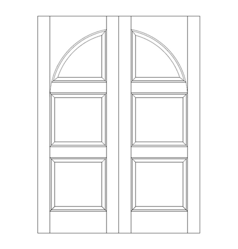 3-Panel Wood Door (DR3290CA)