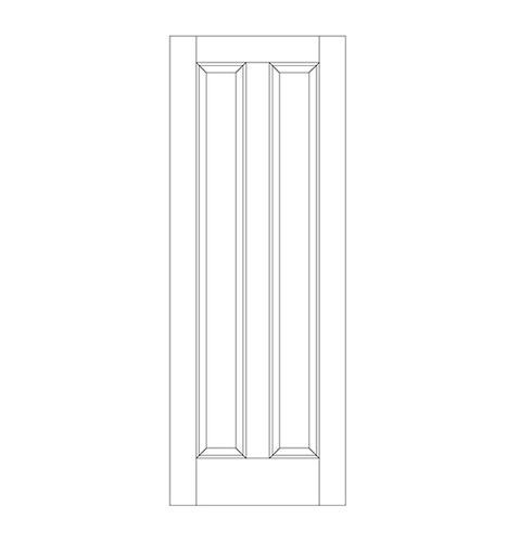 2-Panel Wood Door (DR2080)