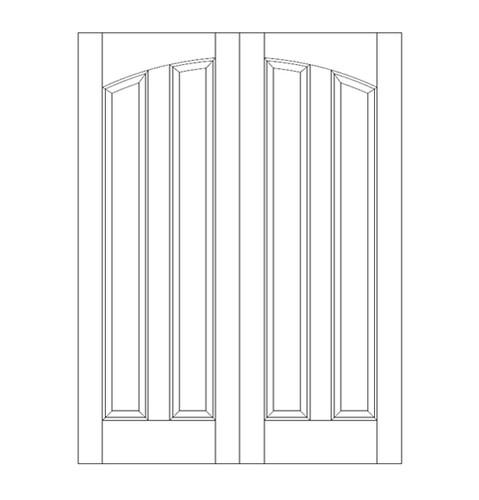 2-Panel Wood Door (DR2180CA)