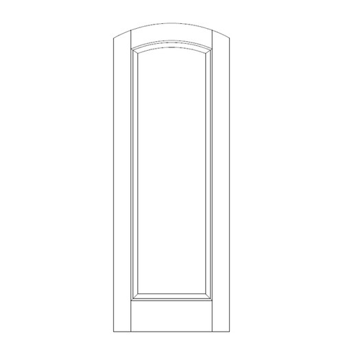 1-Panel Wood Door (DR1500)