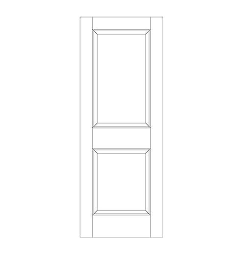 2-Panel Wood Door (DR2000)
