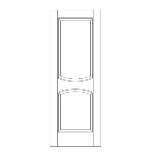 2-Panel Wood Door (DR2010)