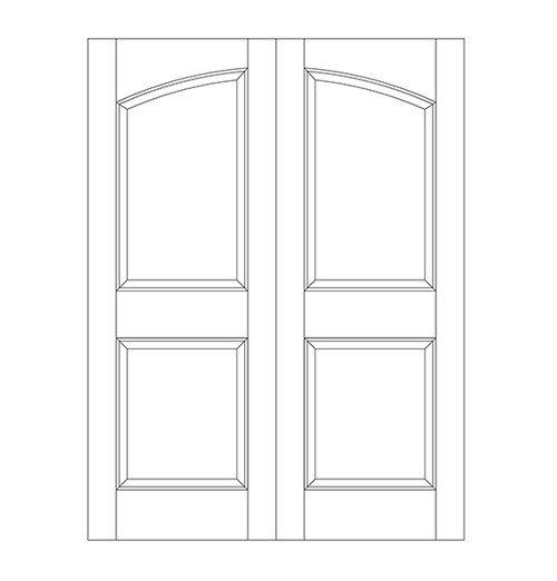 2-Panel Wood Door (DR2100CA)