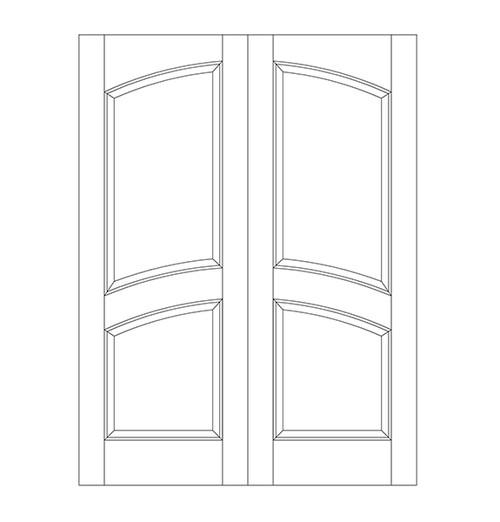2-Panel Wood Door (DR2110CA)