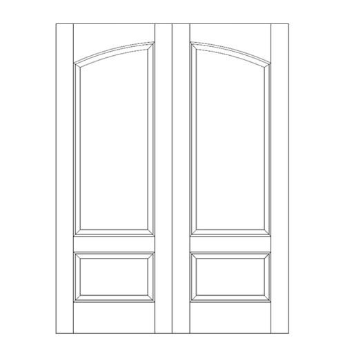 2-Panel Wood Door (DR2160CA)