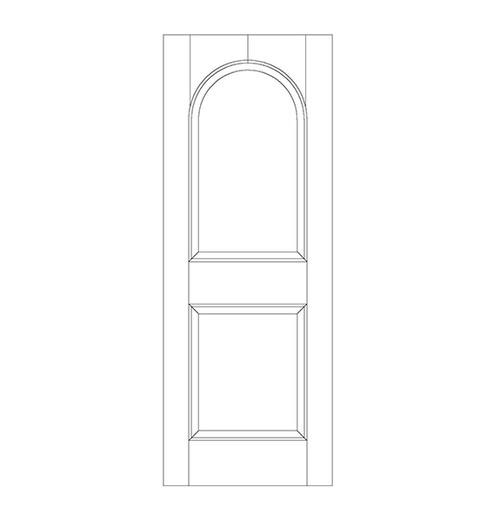 2-Panel Wood Door (DR2200)