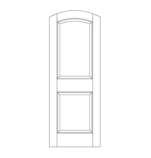 2-Panel Wood Door (DR2500)