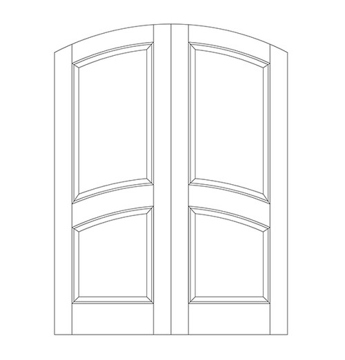 2-Panel Wood Door (DR2510CA)