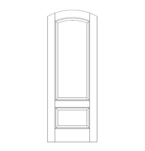 2-Panel Wood Door (DR2560)