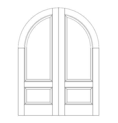2-Panel Wood Door (DR2660CA)