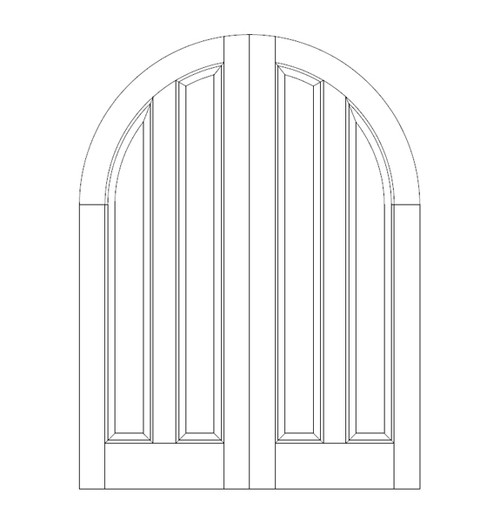 2-Panel Wood Door (DR2680CA)