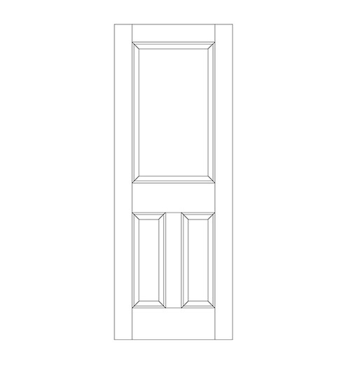 3-Panel Wood Door (DR3060)