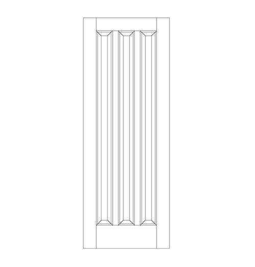 3-Panel Wood Door (DR3070)