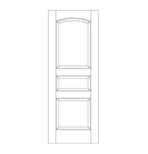 3-Panel Wood Door (DR3100)