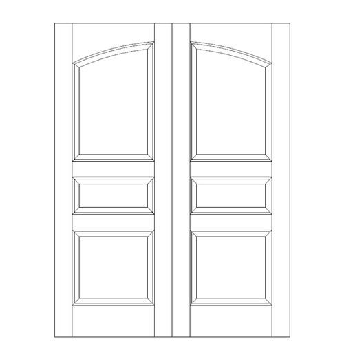 3-Panel Wood Door (DR3100CA)